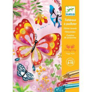 Tableaux à pailleter papillons