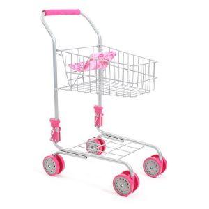 Chariot de supermarché métallique