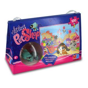 Puzzle 100 pièces avec figurine Petshop : Tortue