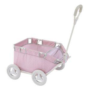Chariot de transport pour poupée poupon Polka Dots Princess