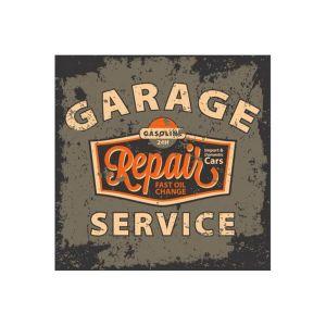 Tableau Vintage Garage Repair Service 60X60 JADE