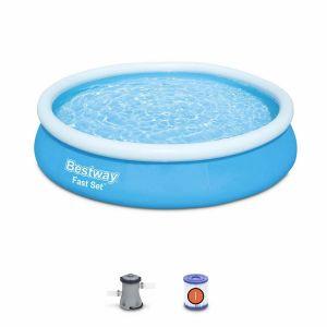 Piscine gonflable bleue autoportante BESTWAY – Jade  ø 360 x 76 cm - piscine hors sol autostable ronde