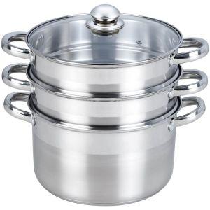Cuiseur vapeur Vapeur Inox diam 24 cm 3 paniers