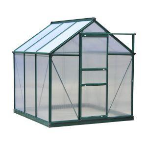 Serre de jardin polycarbonate alu. vert