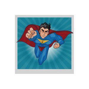 Tableau Pop Art Heros Superman 80X80 RUDY
