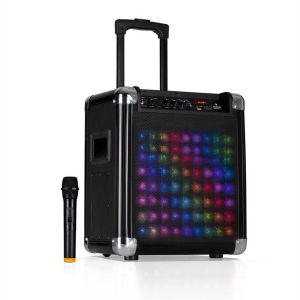 """Moving 80.2 Led Sono Portable Woofer 8"""" 100W+ Micro Vhf Usb Sd Bt Aux"""