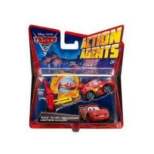 Cars 2 - V3019 - Véhicule Miniature - Cars Véhicule Action Agent - Mcqueen