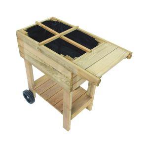 Potager sur pieds en bois traité spécial balcon