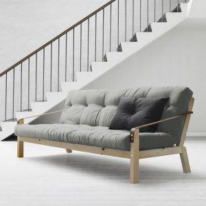 Canapé convertible futon pin naturel vernis Jesper