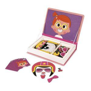 Magnéti'book crazy faces fille, 55 magnets