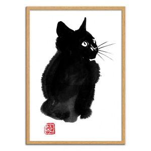 Poster d'art - Fluffy cat - Pechane Sumie
