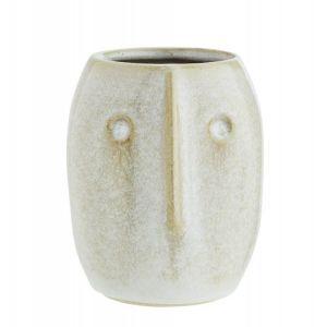 Cache-pot cactus vase grès visage  Face