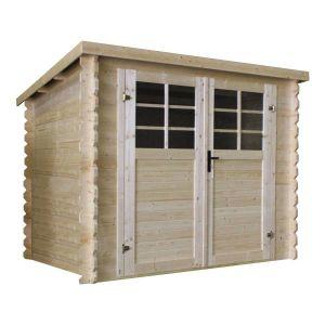 Abri de jardin bois - 5.66 m² - 2,38 x 2,38 m  - 28mm