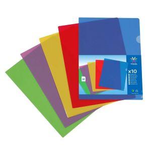 Lot de 20 pochettes coin couleur ultra résistantes