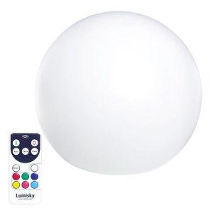 Boule lumineuse sans fil multicolore 40cm