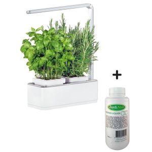 Jardinière avec lampe led intégrée Mini potager + engrais 500 ml