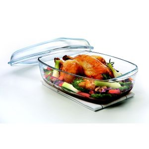 Cocotte four rectangulaire en verre, Essentials, Made in France