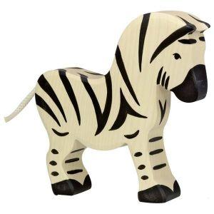 Figurine en bois Holztiger : Animaux de la Jungle : Zèbre