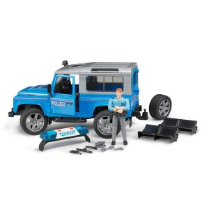 Bruder 02597 Land Rover Defender - Véhicule d'intervention de Police
