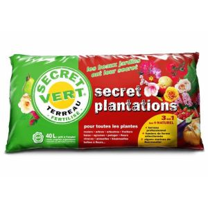 Secret Plantations terreau bio pour toutes les plantes 40 litres