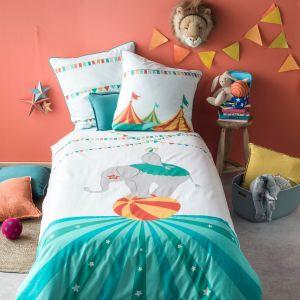 Parure de lit enfant imprimée, 100% coton