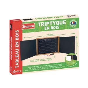 TRIPTYQUE EN BOIS - teinté CHENE - JEU8795