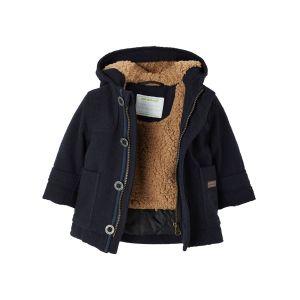 Duffle-coat bébé garçon doublé chaud et ouatiné