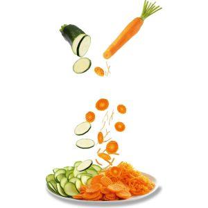 Rapeur trancheur DJ753E10 FRESH EXPRESS ARGENT 3 CONES