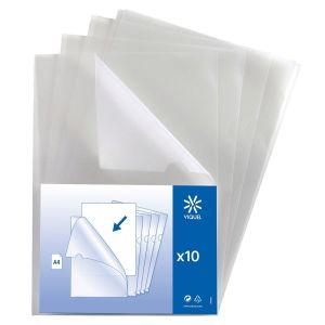 Lot de 50 pochettes coin A4 transparentes en plastique ultra résistante