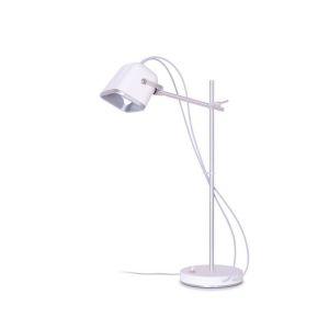 Lampe Mob blanche et bois