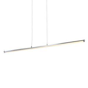 Suspension barre Led TORSY argentée en métal/aluminium/polycarbonate