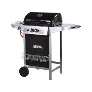 """Barbecue gaz """"Party 3"""" - 3 brûleurs dont 1 latéral - 9.38 kW - Argenté et noir"""