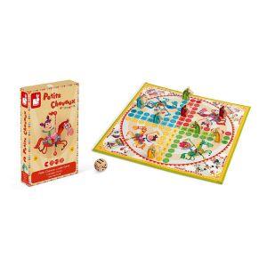 Jeu de petits chevaux carrousel (bois et carton) - J02744