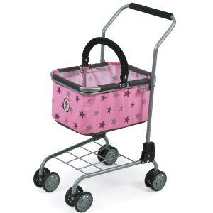 Chariot de supermarché (jouet) métallique et tissus Coloris 83