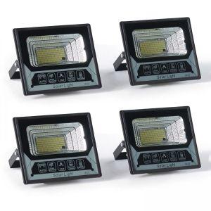 Lot de 2 projecteurs solaires avec télécommande
