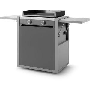 forge adour - chariot pour plancha gris - chmaf60
