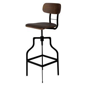 Chaise de bar Retro bois