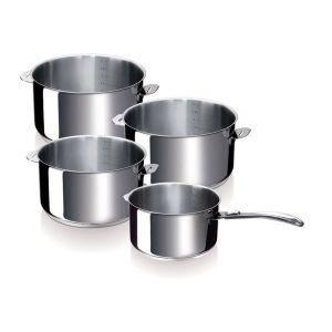 Serie de 4 casserole 14/16/18/20 cm + 1 manche evolution