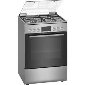 cuisinière mixte a 66l 4 feux inox - hxr39ig50