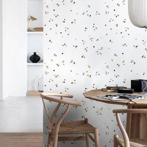 vtwonen papier peint intissé Confetti blanc multicolore 10m x 52cm pois