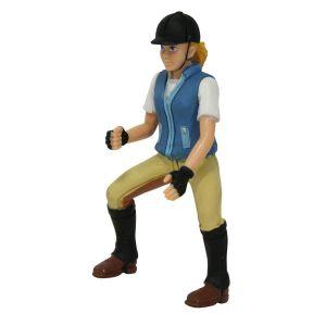 Figurine cavalière nina - 10 cm
