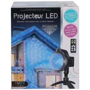 Projecteur extérieur LED avec télécommande effet neige