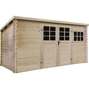 Abri jardin bois - 11.56 m² - 3880 x 2980 x 1918 mm - 34 mm