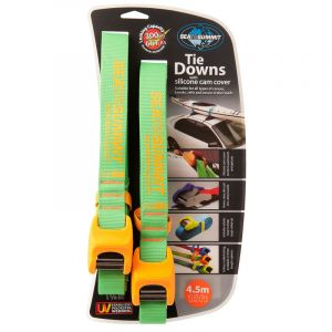 Sea to Summit Tie Downs with Silicone Cam Cover Bracelet de montre 4,5 m Paire, lime/orange Accessoires Stand Up Paddle