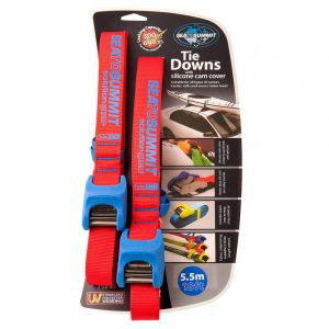 Sea to Summit Tie Downs with Silicone Cam Cover Bracelet de montre 5,5 m Paire, red/blue Accessoires Stand Up Paddle