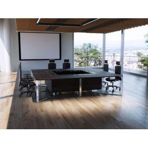 Table de réunion carrée haut de gamme