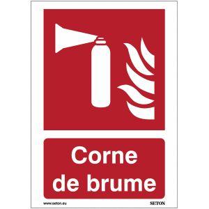 Panneaux et autocollants incendie - Corne de brume