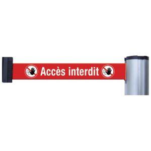 Poteaux de guidage ou sangles murales avec signalisation et message - Accès interdit