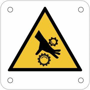 """Plaques de signalisation pour machines""""Risque d'écrasement, rouleaux crantés"""""""