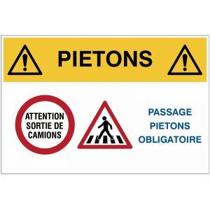 Panneaux industriels - Passage piétons